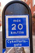 Hastighetsbegränsning för cyklar
