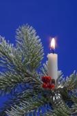 Julgransbelysning med levande ljus