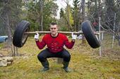Styrketräning med bilhjul