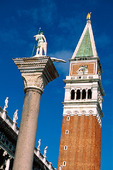 Kampanilen i Venedig, Italien