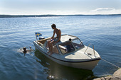 Bad från fritidsbåt