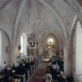 Gudstjänst i Övergrans kyrka, Uppland