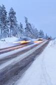 Trafik på vinterväg