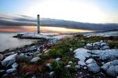 En av ensfyrarna på Fotö, Bohuslän