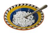 Tallrik med vitaminer