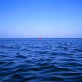 Sjömärke på havet