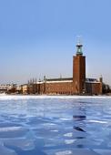 Is vid Stadshuset i Stockholm