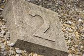 Symbol i Dachau koncentrationsläger där kasernerna brukade vara