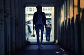 Människa i tunnel
