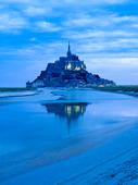 Mont St. Michel vid Normandie, Frankrike
