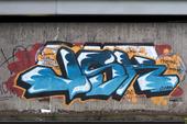 Graffiti på stenmur