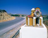 Minnesmärke efter trafikolycka, Grekland
