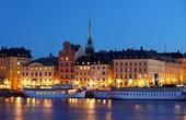 Nattbild av Gamla Stan, Stockholm