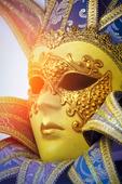 Traditionell venetiansk karnevalmask, Italien