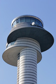 Air-traffic control tower, airport