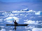 Eskimå i kajak, Grönland