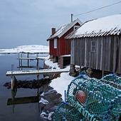 Sjöbodar, Bohuslän, vinter