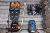 Snöskor och ryggsäck