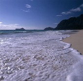 Strand på Hawaii, USA