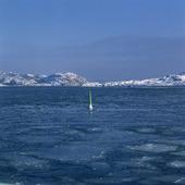 Sjömärke i is
