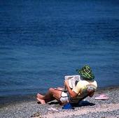 Man på strand