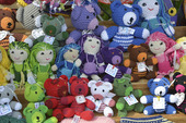 Virkade dockor och djur