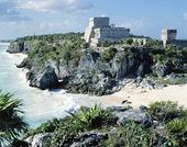 Tulum ruinerna på Yucatan, Mexico