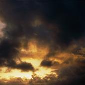 Ovädersmoln skymmer solen