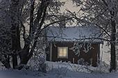 Belysning i vinterstuga