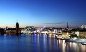 Kvällsvy över Stockholm