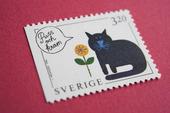 Frimärke med katt