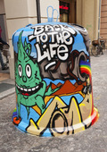 Graffiti art i Bologna, Italien