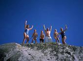 Människor på klippa