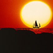 Sailboat in the sunset (montage)