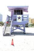 Lifeguard in Miami, USA