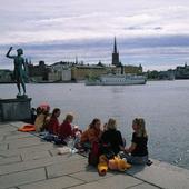 Barn på Stadshuskajen, Stockholm