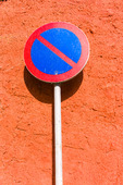 Förbudsmärke, parkering förbjuden