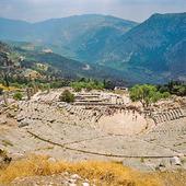 Amfiteater i Delfi, Grekland