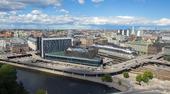 Flygfoto över Stockholms stad