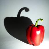 Skugga av röd paprika
