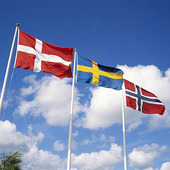 Sveriges och Norges flagga