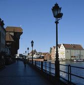 Gamla hamnen i Gdansk, Polen