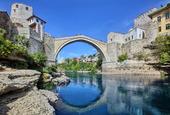 Gamla bron i Mostar, Bosnien-Hercegovina