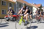 Vättern runt cyklister i Gränna, Småland