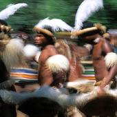 Dansare i Zululand, Sydafrika