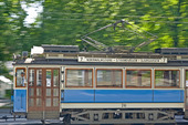 Spårvagn i Stockholm (rörelseoskärpa)