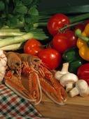 Kräftor och grönsaker
