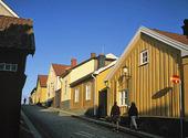 Trähus i Mariestad, Västergötland