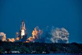 Uppskjutning av rymdfärja, KSC-NASA, USA