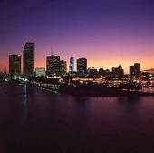 Miami i skymning, USA